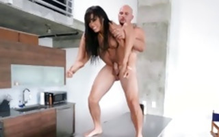 Hot tremendous brunette slut Shay Evans having brutal sex