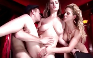 Cruel threesome with spicy floosie Cherie Deville